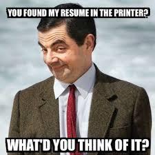 Mr. Bean Resume Found