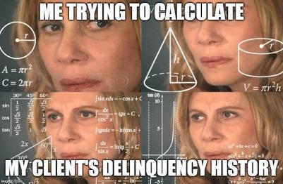 delinquency calculation